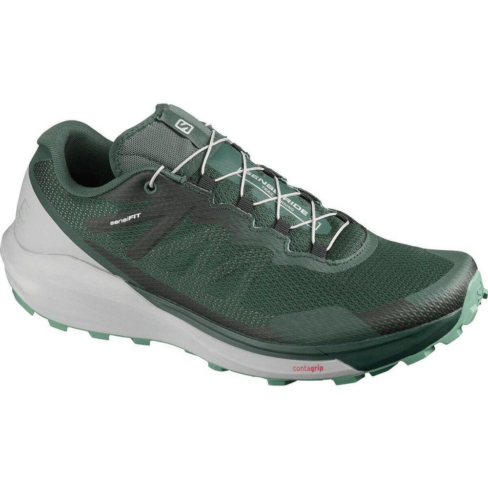 サロモン Salomon メンズ ランニング・ウォーキング シューズ・靴【Sense Ride 3 Trail Running Shoe】Green Gables/Alloy/Oil Blue