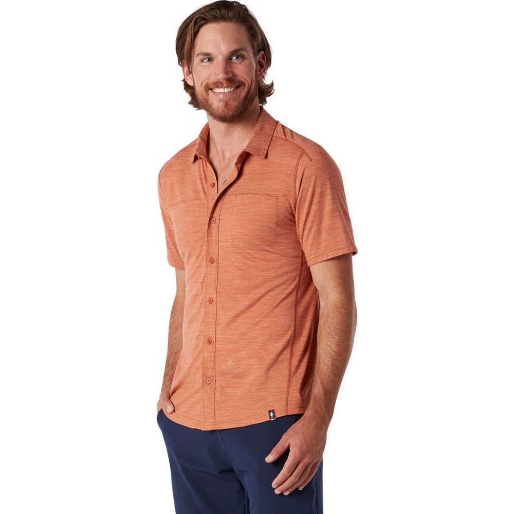 スマートウール Smartwool メンズ 半袖シャツ トップス【Merino Sport 150 Short - Sleeve Button - Up Shirt】Bombay Brown Heather