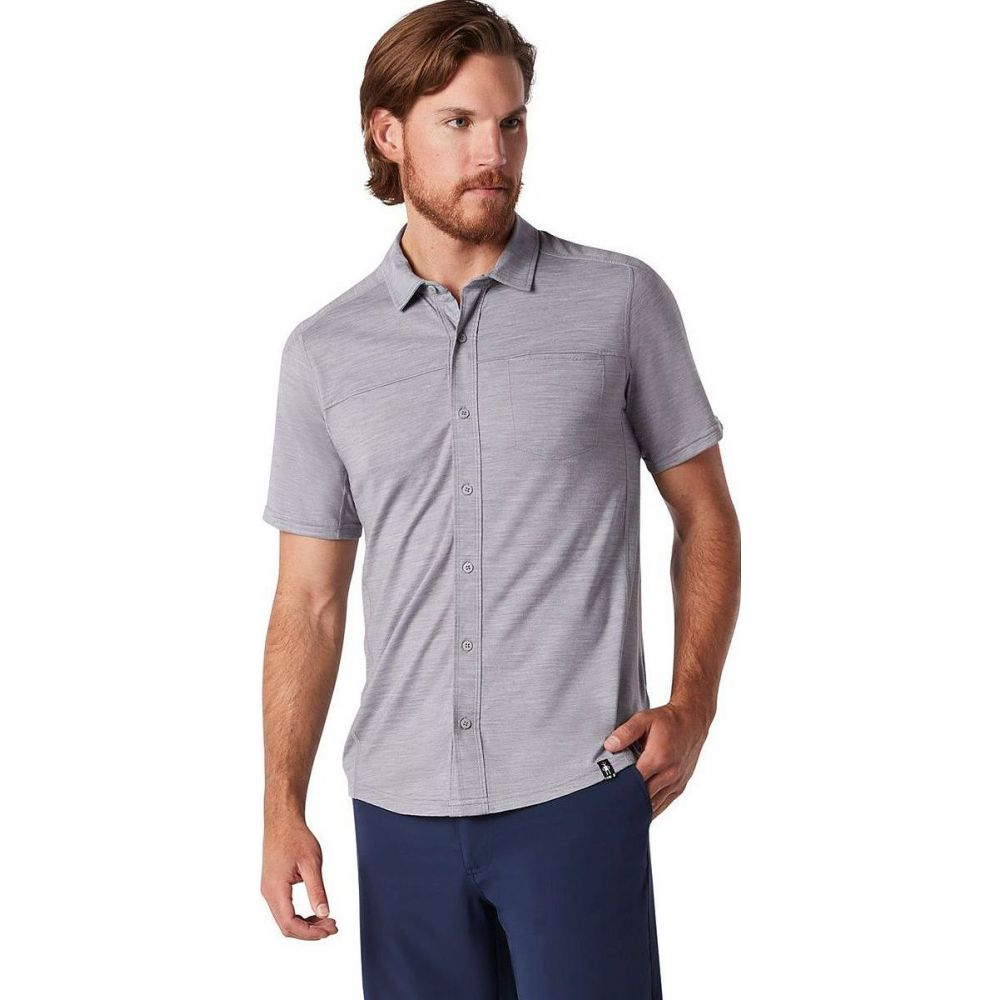 スマートウール Smartwool メンズ 半袖シャツ トップス【Merino Sport 150 Short - Sleeve Button - Up Shirt】Light Gray Heather