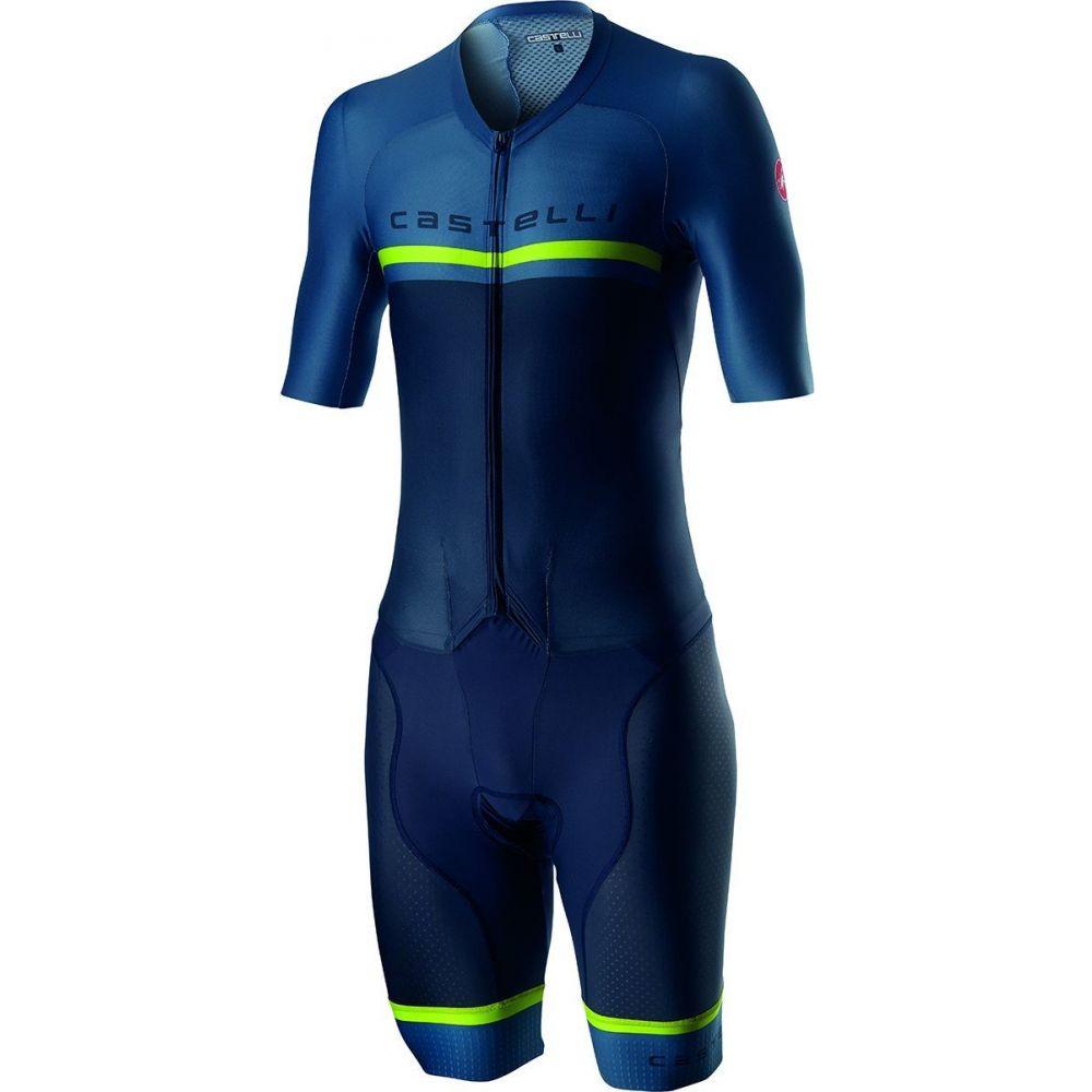 カステリ Castelli メンズ トライアスロン スピードスーツ ウェットスーツ【Sanremo 4.0 Speed Suit】Dark Steel Blue