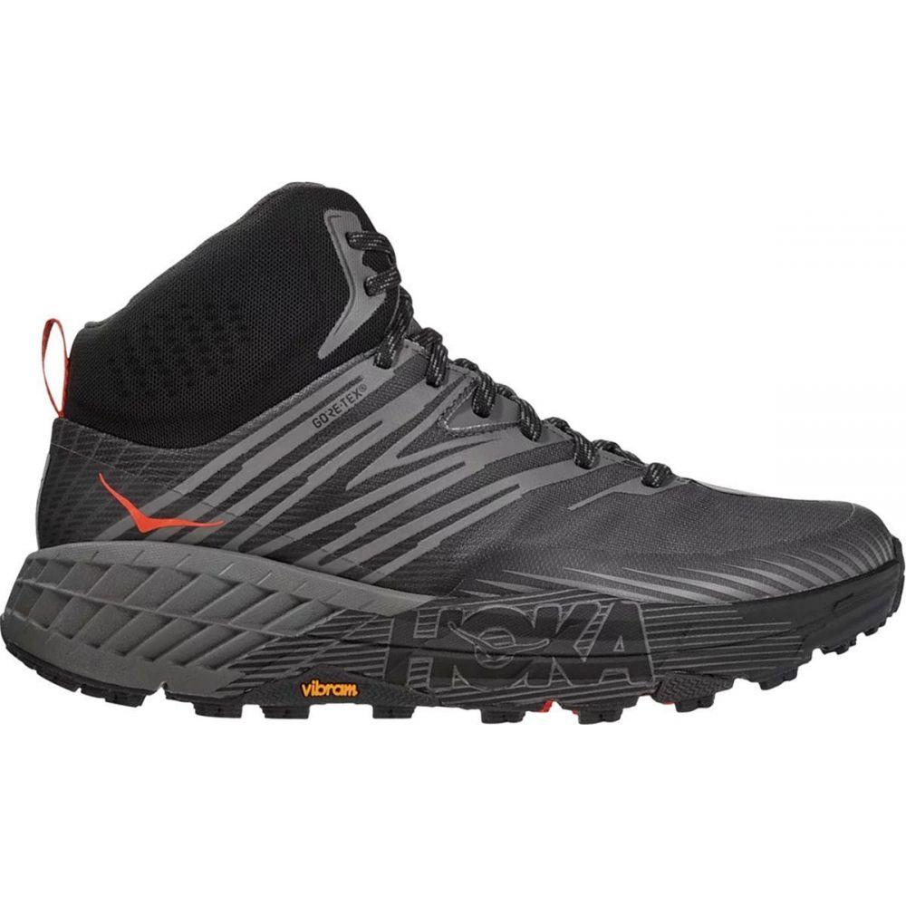 ホカ オネオネ HOKA ONE ONE メンズ ランニング・ウォーキング シューズ・靴【Speedgoat Mid 2 GTX Trail Run Shoe】Anthracite/Dark Gull Grey