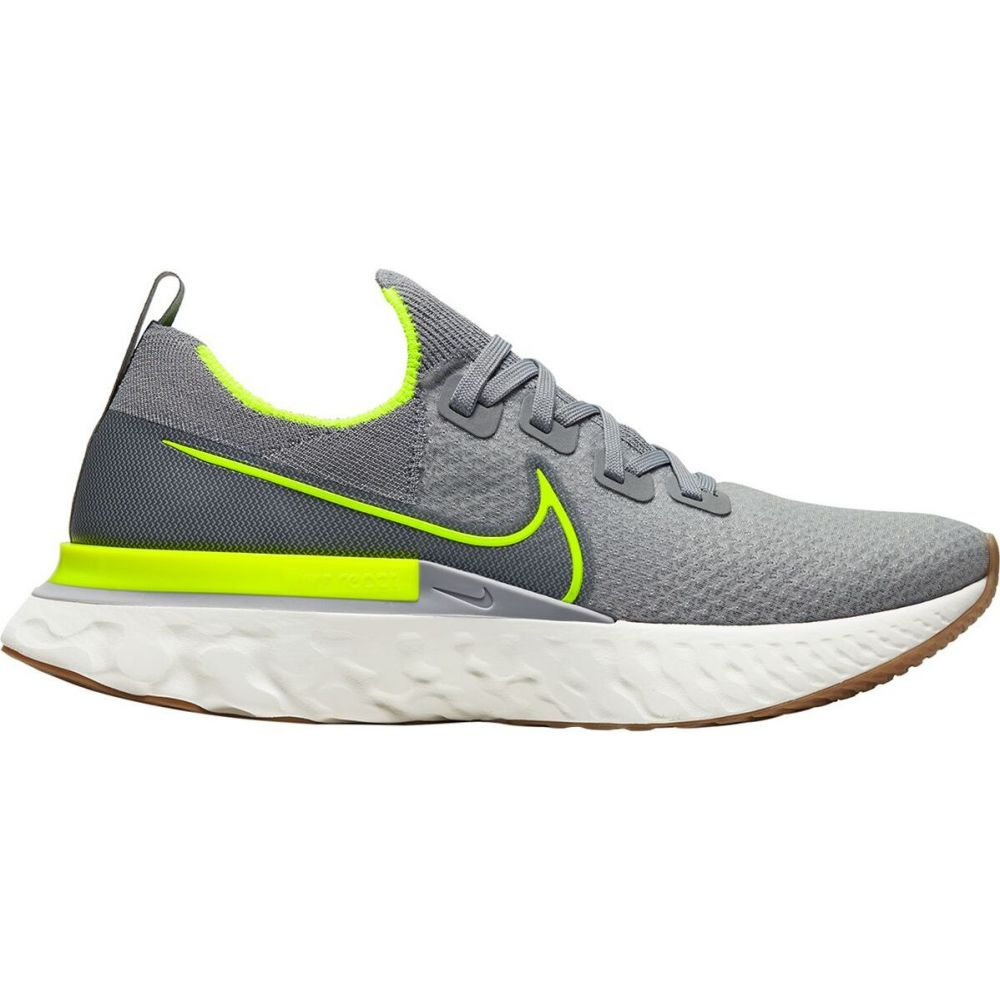 ナイキ Nike メンズ ランニング・ウォーキング シューズ・靴【React Infinity Run Flyknit Running Shoe】Particle Grey/Volt-Wolf Grey-Sail