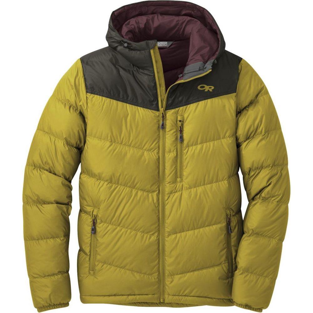 アウトドアリサーチ Outdoor Research メンズ ダウン・中綿ジャケット フード アウター【Transcendent Hooded Down Jacket】Turmeric/Forest