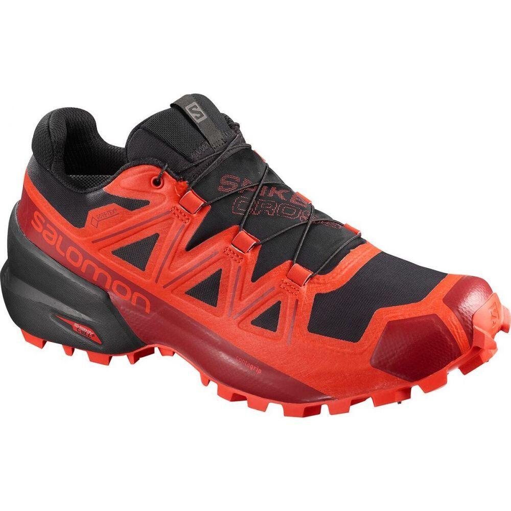 サロモン Salomon メンズ ランニング・ウォーキング シューズ・靴【Spikecross 5 GTX Trail Running Shoe】Black/Racing Red/Red Dahlia