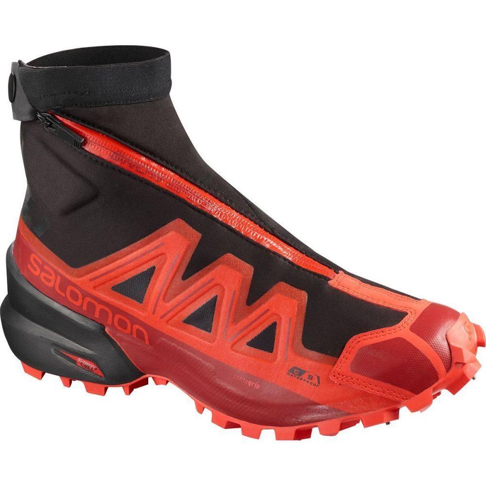 サロモン Salomon メンズ ランニング・ウォーキング シューズ・靴【Snowspike CS WP Trail Running Shoe】Black/Racing Red/Red Dahlia
