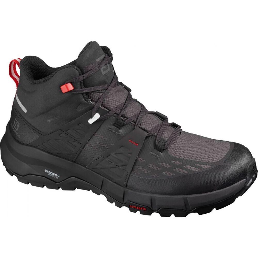 サロモン Salomon メンズ ハイキング・登山 ブーツ シューズ・靴【Odyssey Mid GTX Hiking Boot】Black/Shale/High Risk Red