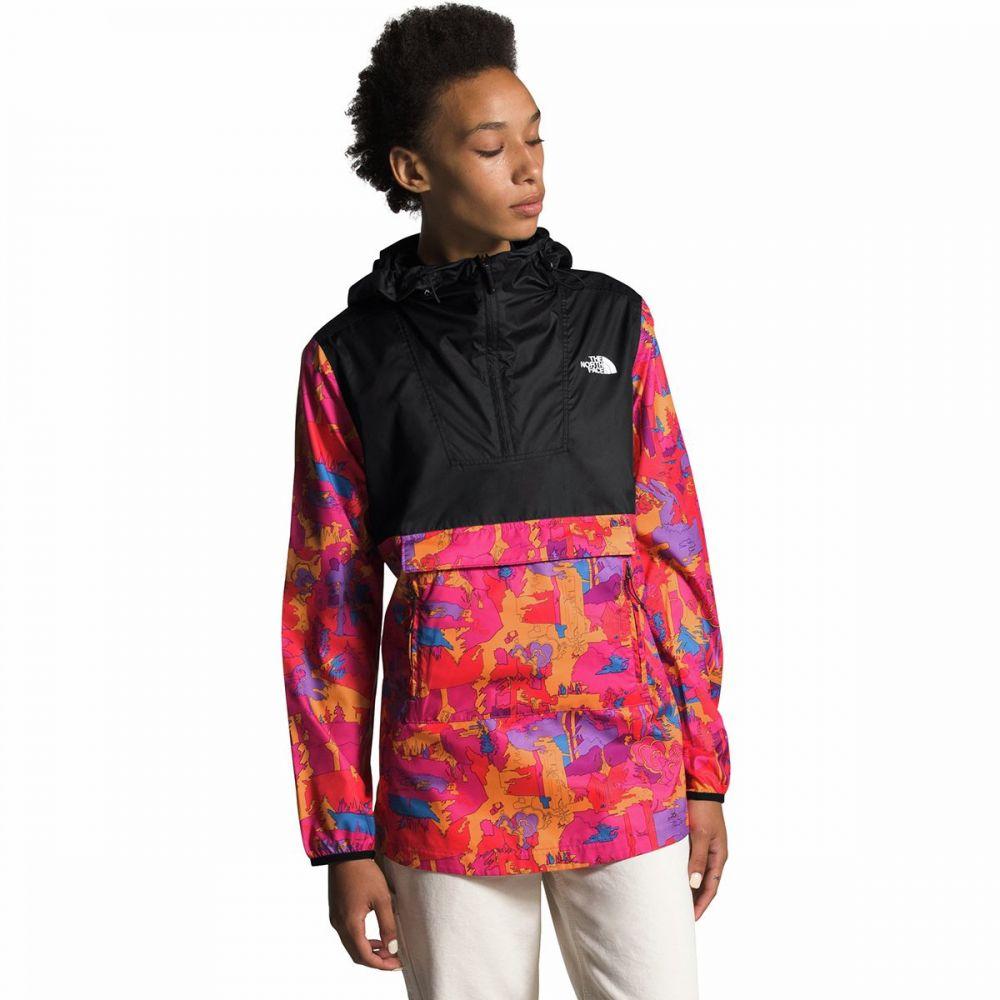 ザ ノースフェイス The North Face レディース ジャケット アウター【Printed Fanorak Jacket】Mr. Pink New Dimensions Print/Tnf Black