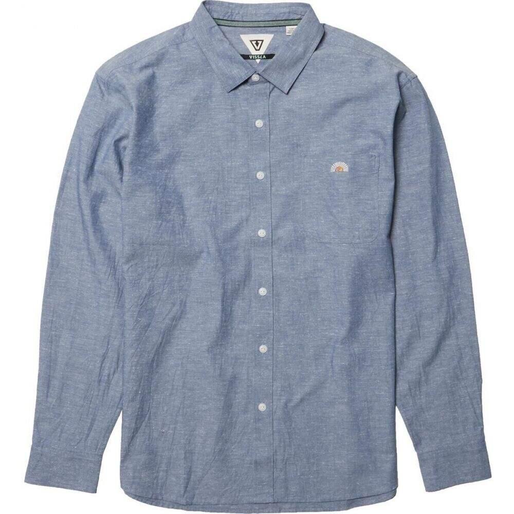 新到着 ヴィスラ Vissla メンズ シャツ トップス【Sets Long - Sleeve Eco Shirt】Harbor Blue, 特上ひもの ぴん太郎 a6c59293