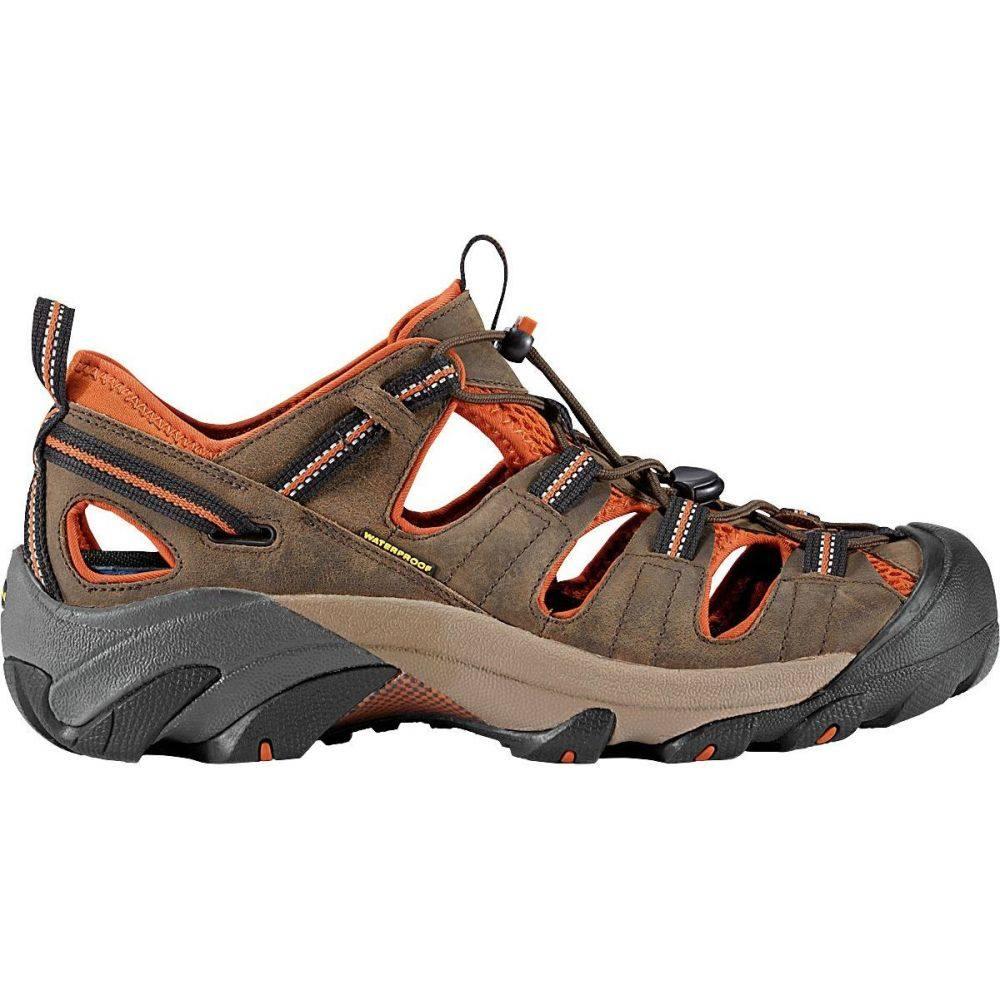 <title>キーン メンズ ハイキング 登山 シューズ 靴 Black Olive Bombay Brown サイズ交換無料 ギフト KEEN Arroyo II Hiking Shoe</title>
