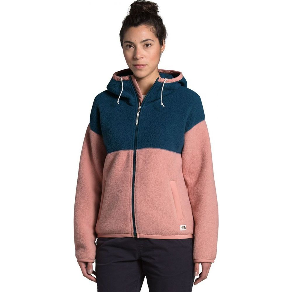 ザ ノースフェイス The North Face レディース フリース トップス【Cragmont Fleece Full - Zip Hoodie】Blue Wing Teal/Pink Clay:フェルマート