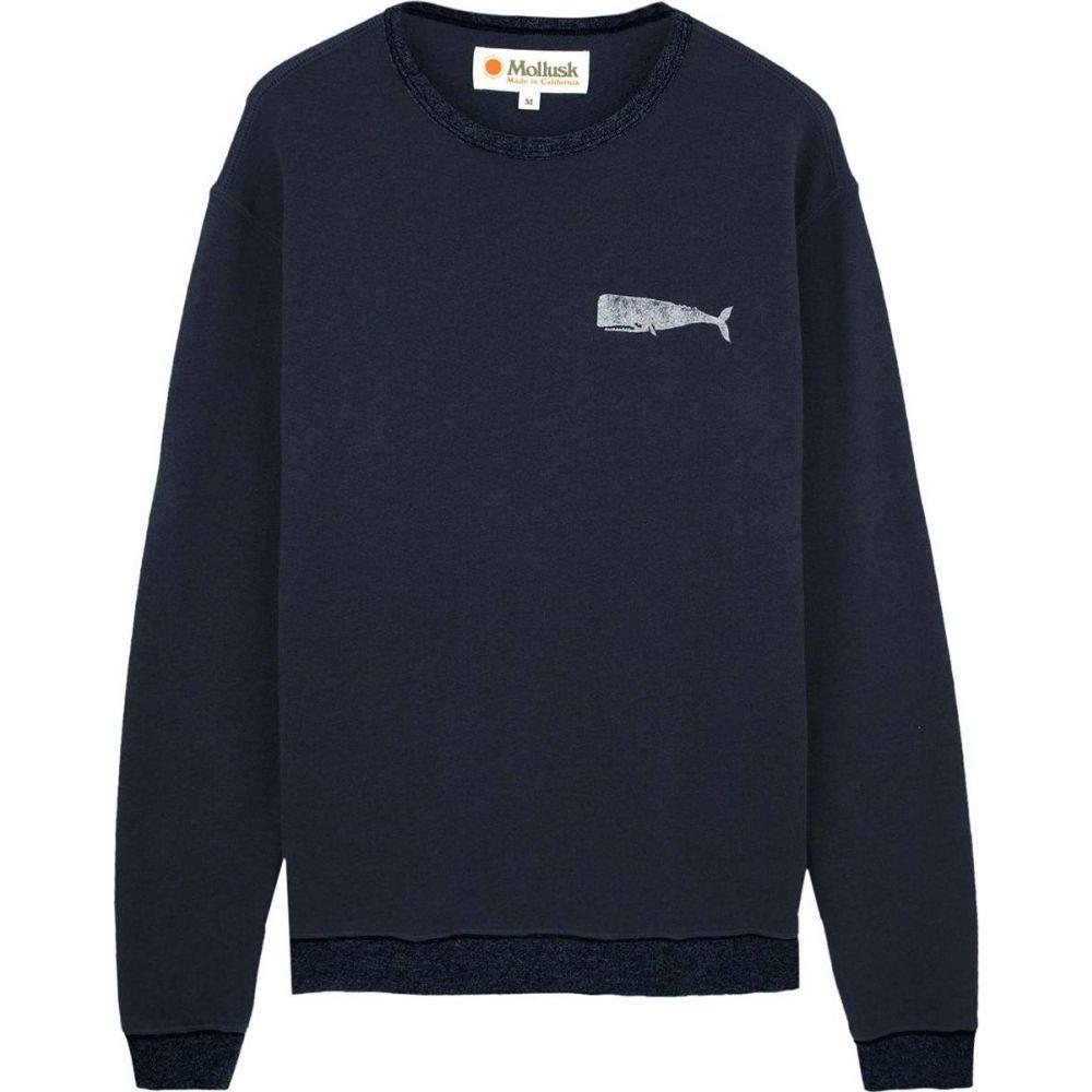 モルスク Mollusk メンズ スウェット・トレーナー トップス【Olde Whale Crew Sweatshirt】Faded Navy