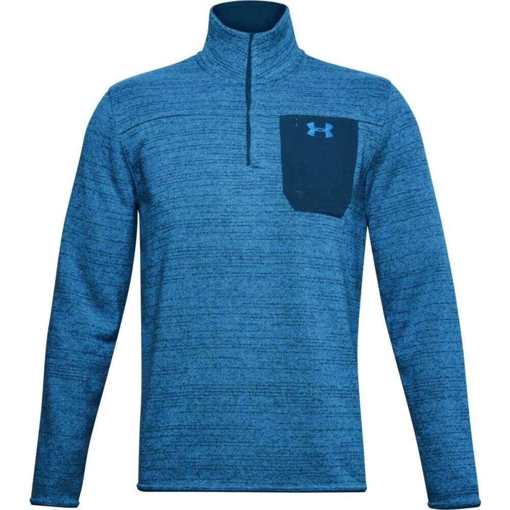 アンダーアーマー Under Armour メンズ スウェット・トレーナー ヘンリーシャツ トップス【Specialist Henley 2.0 Sweatshirt】Graphite Blue/Graphite Blue/Electric Blue