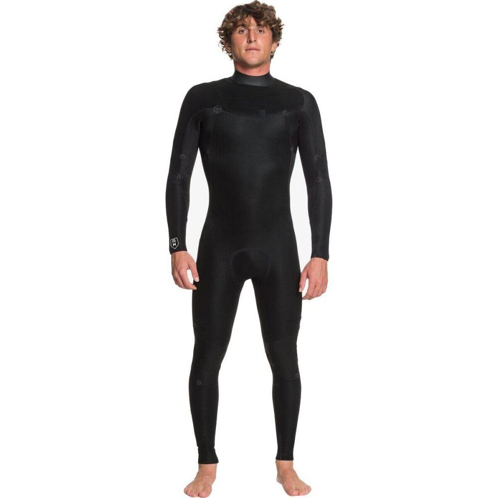 - Wetsuit】Black/Silver メンズ GBS Zip クイックシルバー Chest 水着・ビーチウェア【4/3 ウェットスーツ Quiksilver Syncro