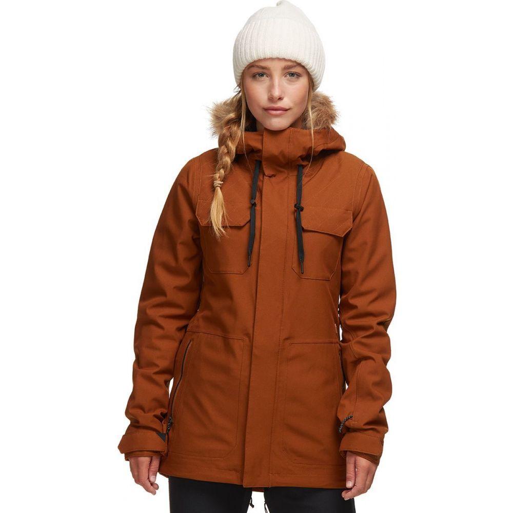 宅配便配送 ボルコム Volcom レディース スキー・スノーボード ジャケット アウター【Shadow Insulated Jacket】Copper, ロートアルミのブルーティアラ 1636537f