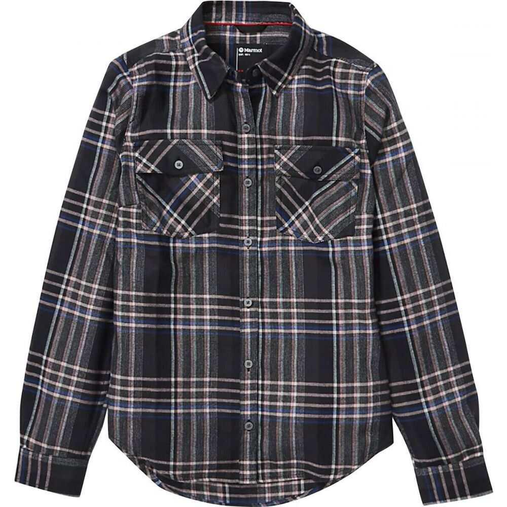 マーモット Marmot レディース ブラウス・シャツ フランネルシャツ トップス【Bridget Midweight Flannel Shirt】Black