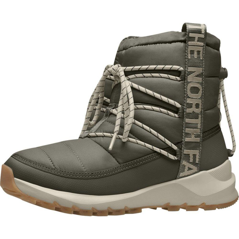 Green/Whisper North Face ザ Boot】New レースアップブーツ ブーツ Up シューズ・靴【ThermoBall Lace White The ノースフェイス レディース Taupe