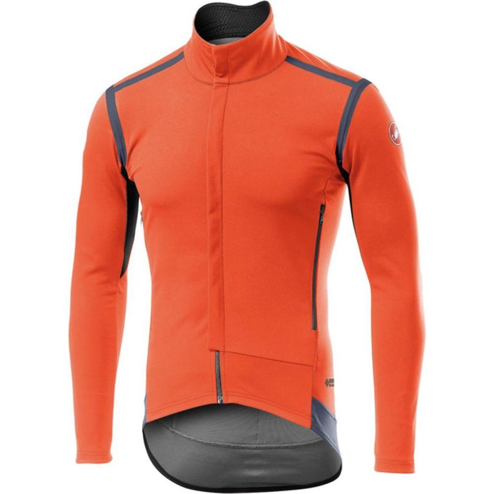 国内即発送 《週末限定タイムセール》 カステリ メンズ 自転車 トップス Orange サイズ交換無料 Castelli Sleeve Perfetto RoS Jersey Long -