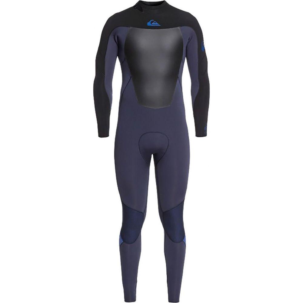 Navy/Ind Quiksilver Syncro Wetsuit】Black Zip クイックシルバー 水着・ビーチウェア【4/3 Saphir Back - GBS メンズ Ink/Star ウェットスーツ