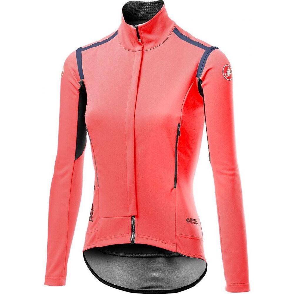 カステリ セール品 レディース 自転車 トップス Brilliant Pink サイズ交換無料 Perfetto Castelli Jersey Long 開店祝い - RoS Sleeve