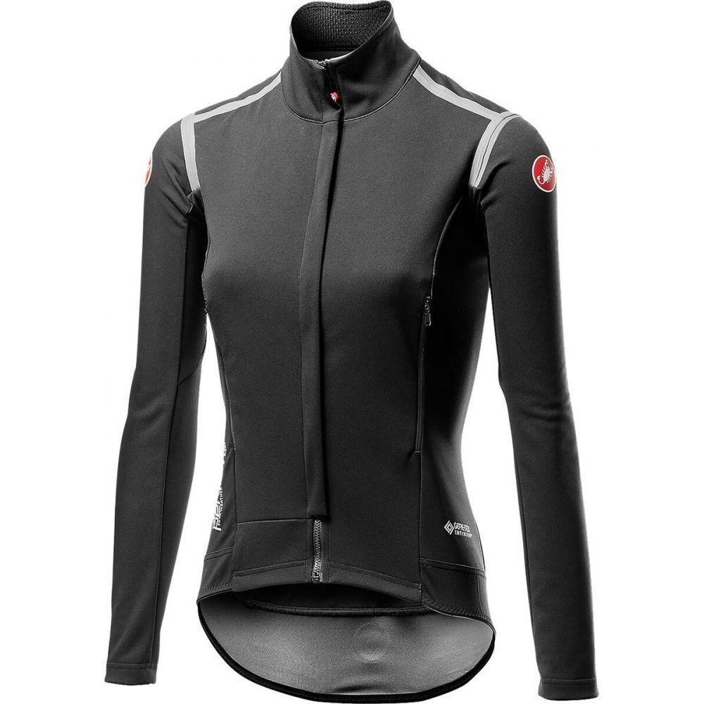 カステリ レディース 自転車 トップス 今季も再入荷 Light Black サイズ交換無料 Castelli 定番スタイル Perfetto Jersey Sleeve - Long RoS