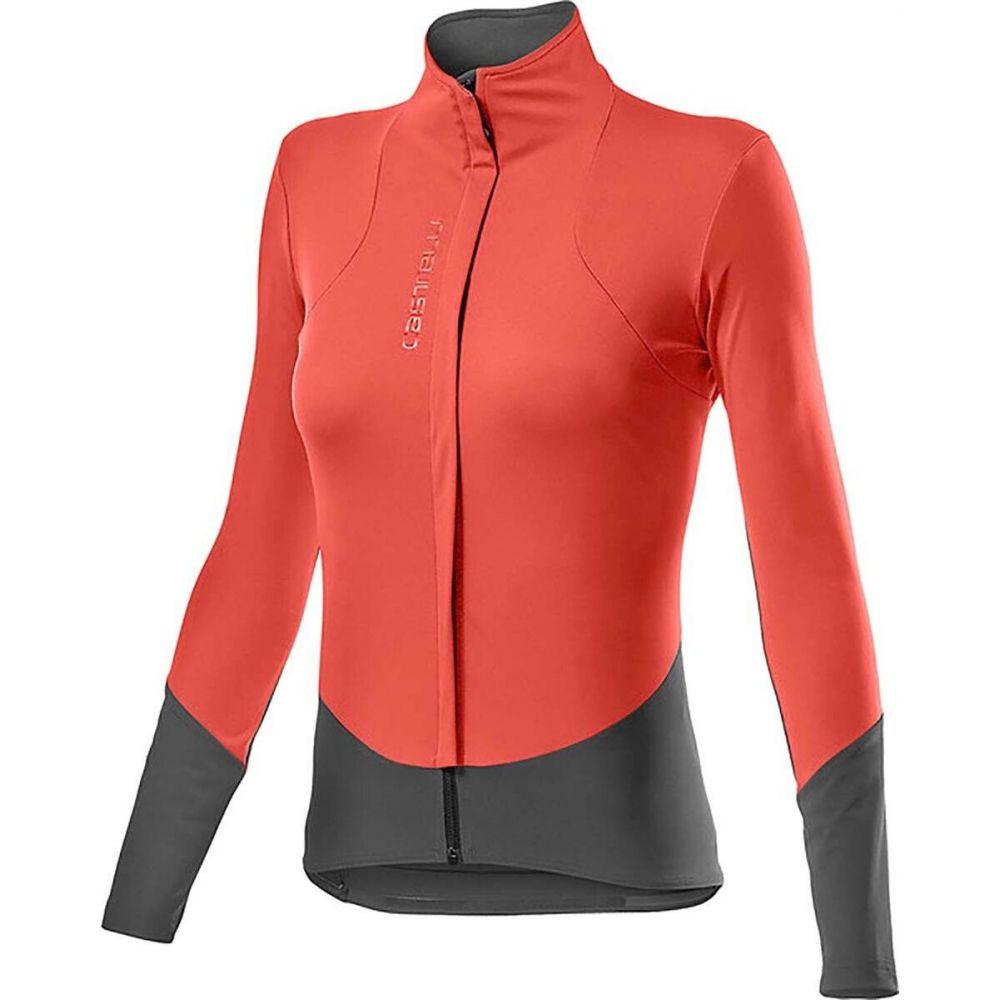 カステリ レディース 自転車 アウター Brilliant 本日限定 Pink Dark Beta Gray Jacket ジャケット Castelli 数量は多 RoS サイズ交換無料