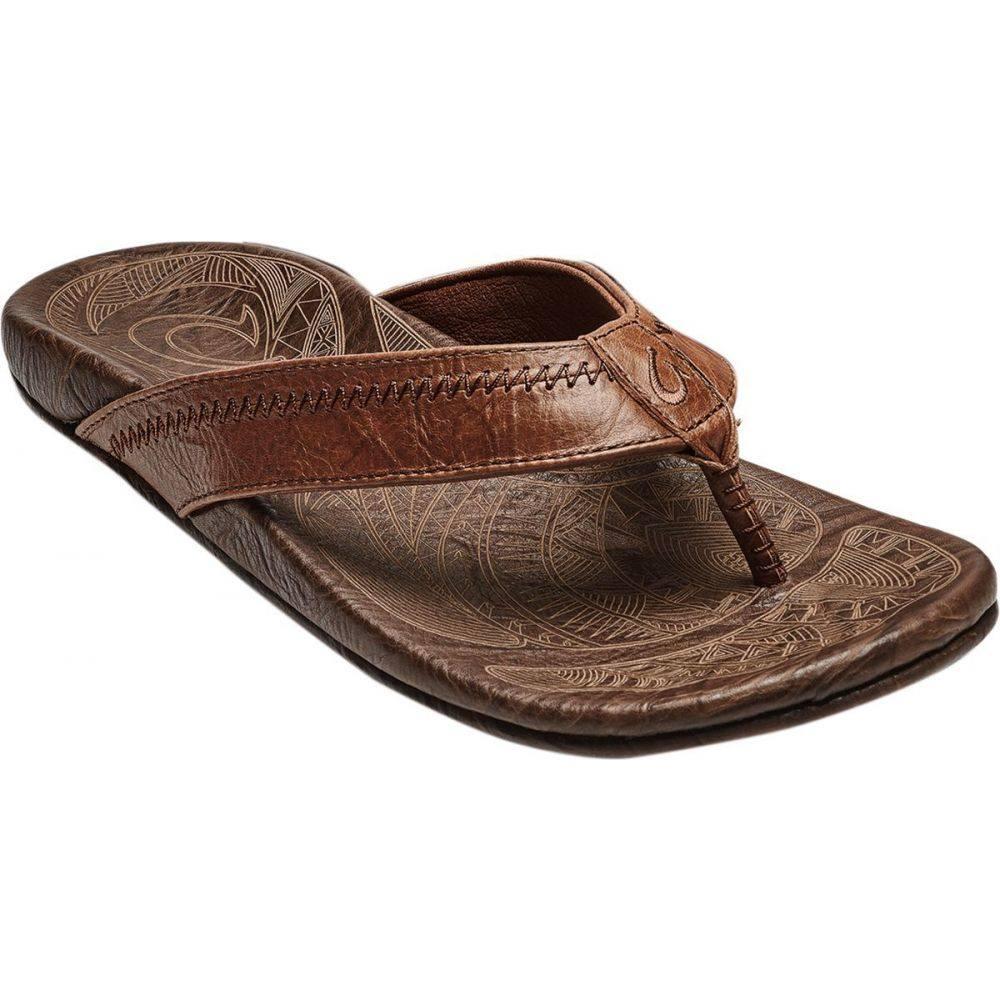 オルカイ Olukai メンズ ビーチサンダル シューズ・靴【Hiapo Flip Flop】Rum/Dark Wood