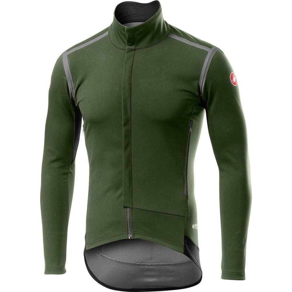カステリ メンズ 自転車 トップス Military ランキング総合1位 受賞店 Green サイズ交換無料 - Castelli Perfetto Jersey Sleeve RoS Long
