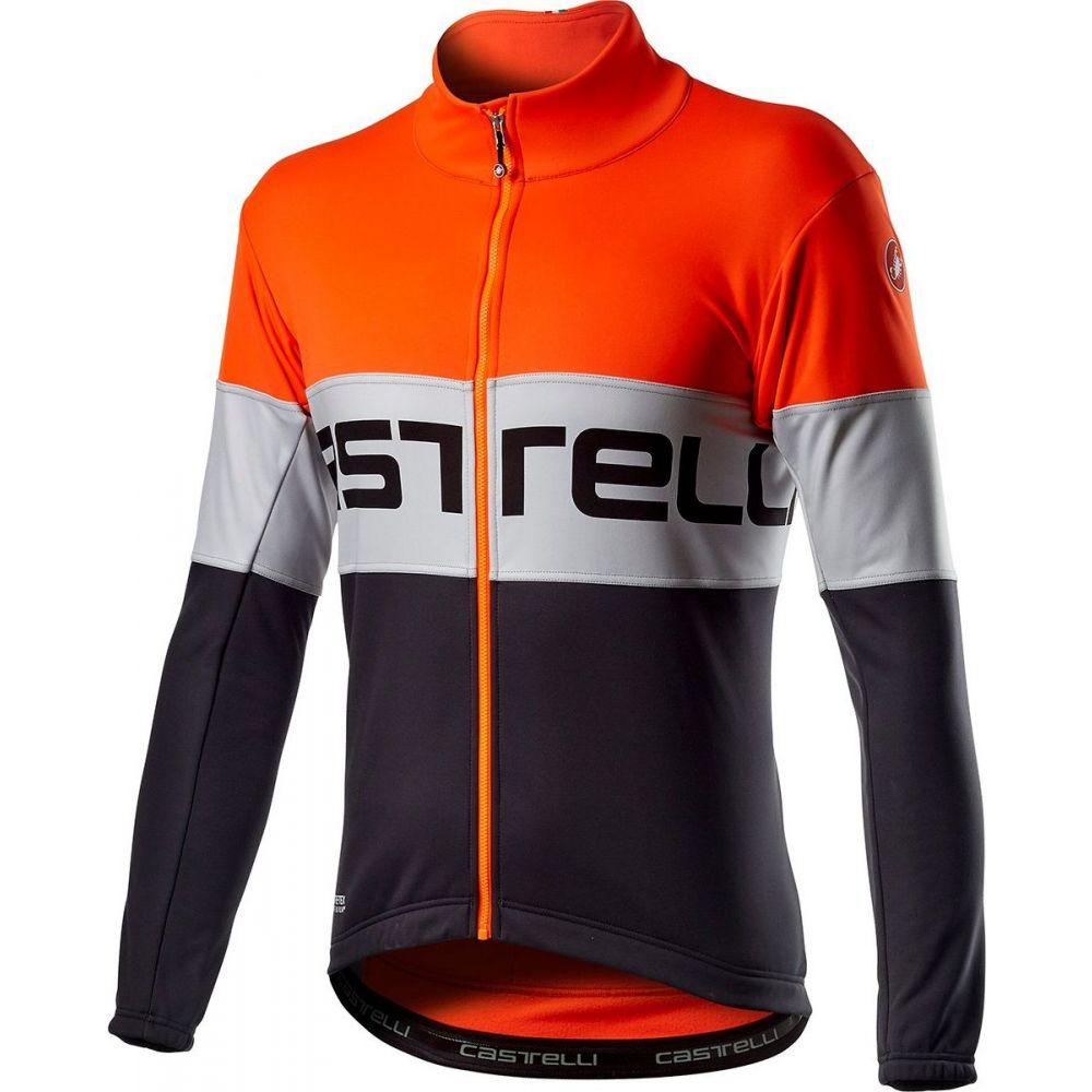 カステリ メンズ 自転車 アウター Orange Silver Gray 新作続 Castelli 買取 Jacket ジャケット Prologo サイズ交換無料 Dark
