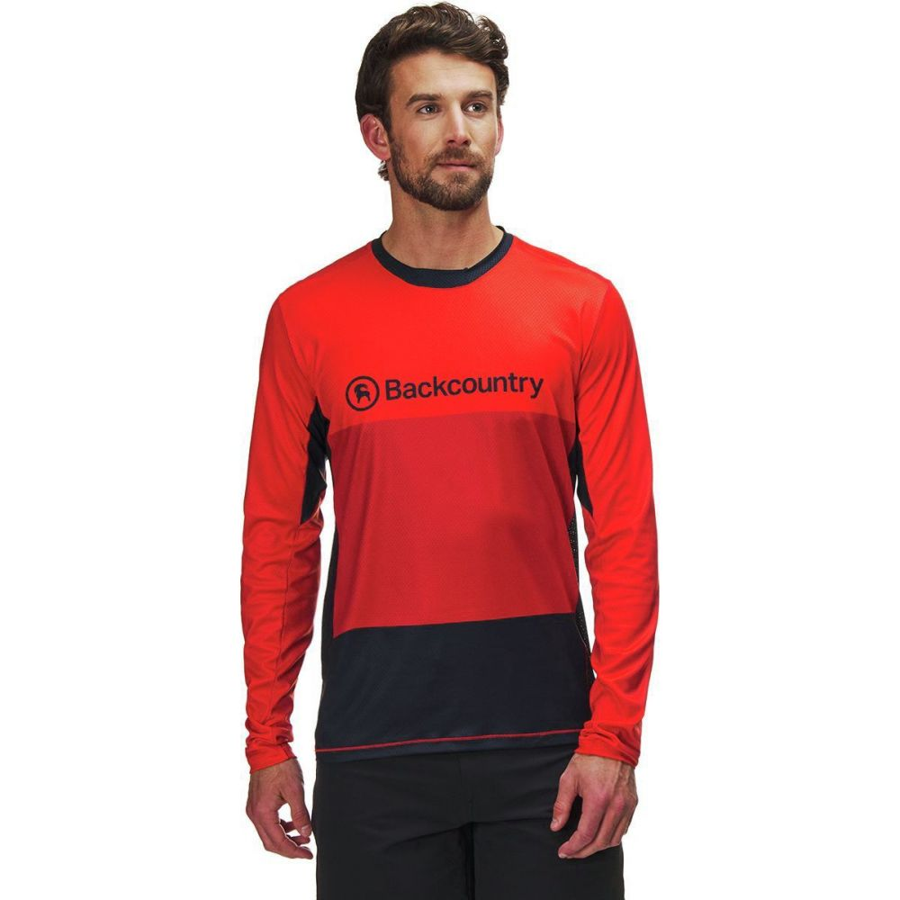 独創的 バックカントリー Backcountry メンズ 長袖Tシャツ トップス【Arcylon Long - Sleeve Jersey】Molten Lava, 海宇工芸館 0403b8cb