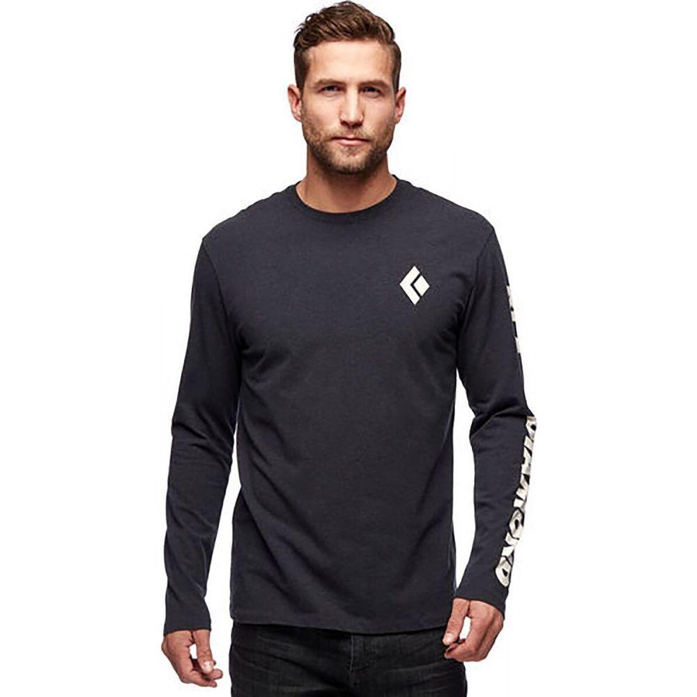 激安正規  ブラックダイヤモンド Black Diamond メンズ 長袖Tシャツ トップス【Logo Sleeve T - Shirt】Black Heather, Luxzet ラグゼット c2705b91