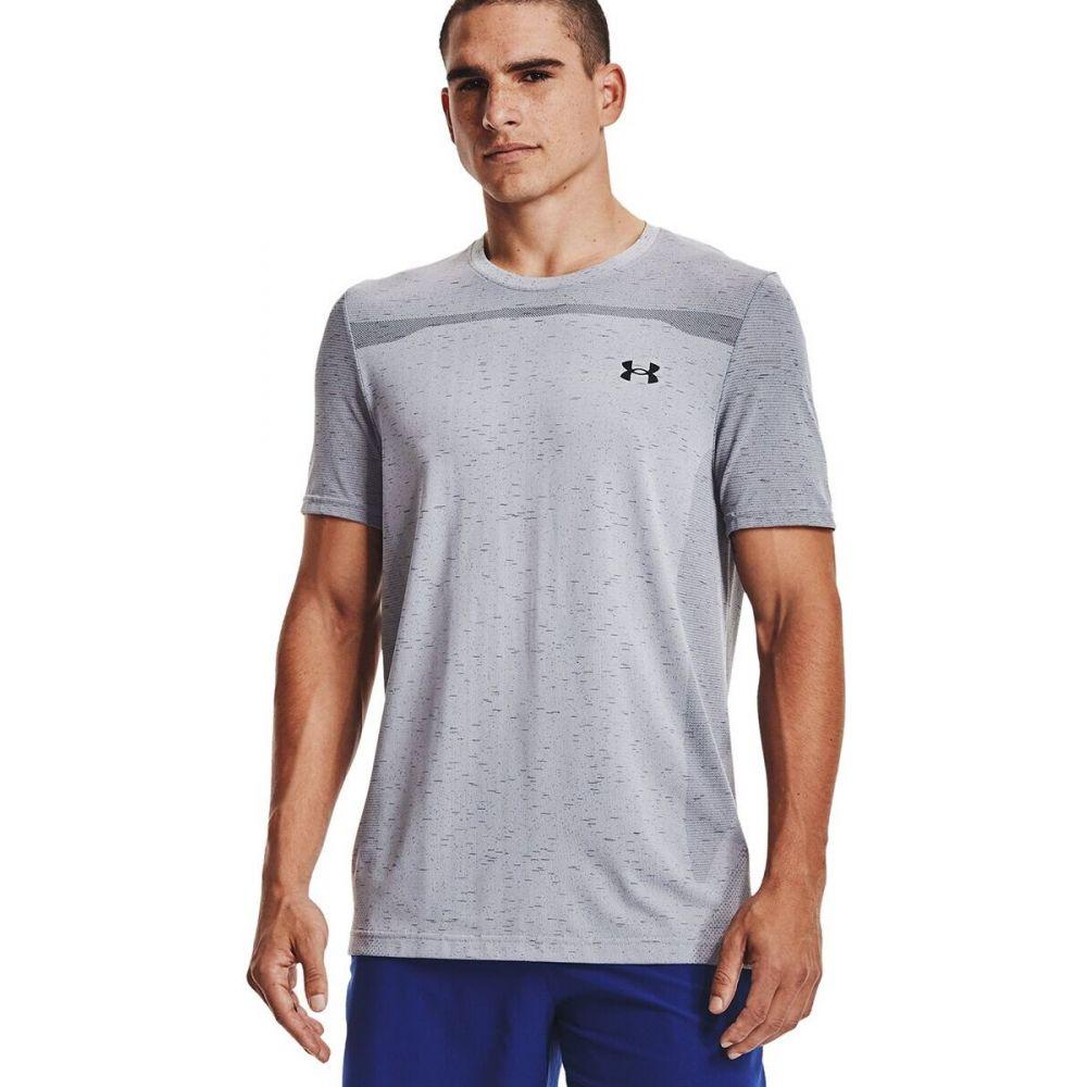 アンダーアーマー アウトレット メンズ ハイキング 登山 トップス Black Mod Gray Shirt - サイズ交換無料 Sleeve 迅速な対応で商品をお届け致します Under Armour Short Seamless