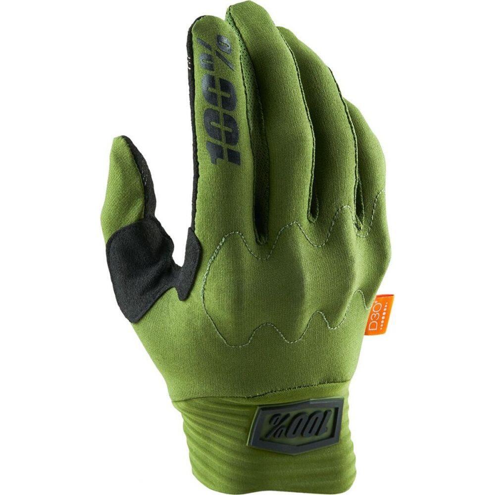 ヒャクパーセント メンズ 日本限定 自転車 グローブ Army Green Black 1 Glove サイズ交換無料 豊富な品 Cognito D30