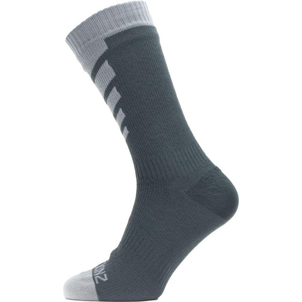 シールスキンズ ユニセックス 絶品 激安特価品 ハイキング 登山 Grey サイズ交換無料 SealSkinz Length Sock Warm Waterproof Mid Weather ソックス