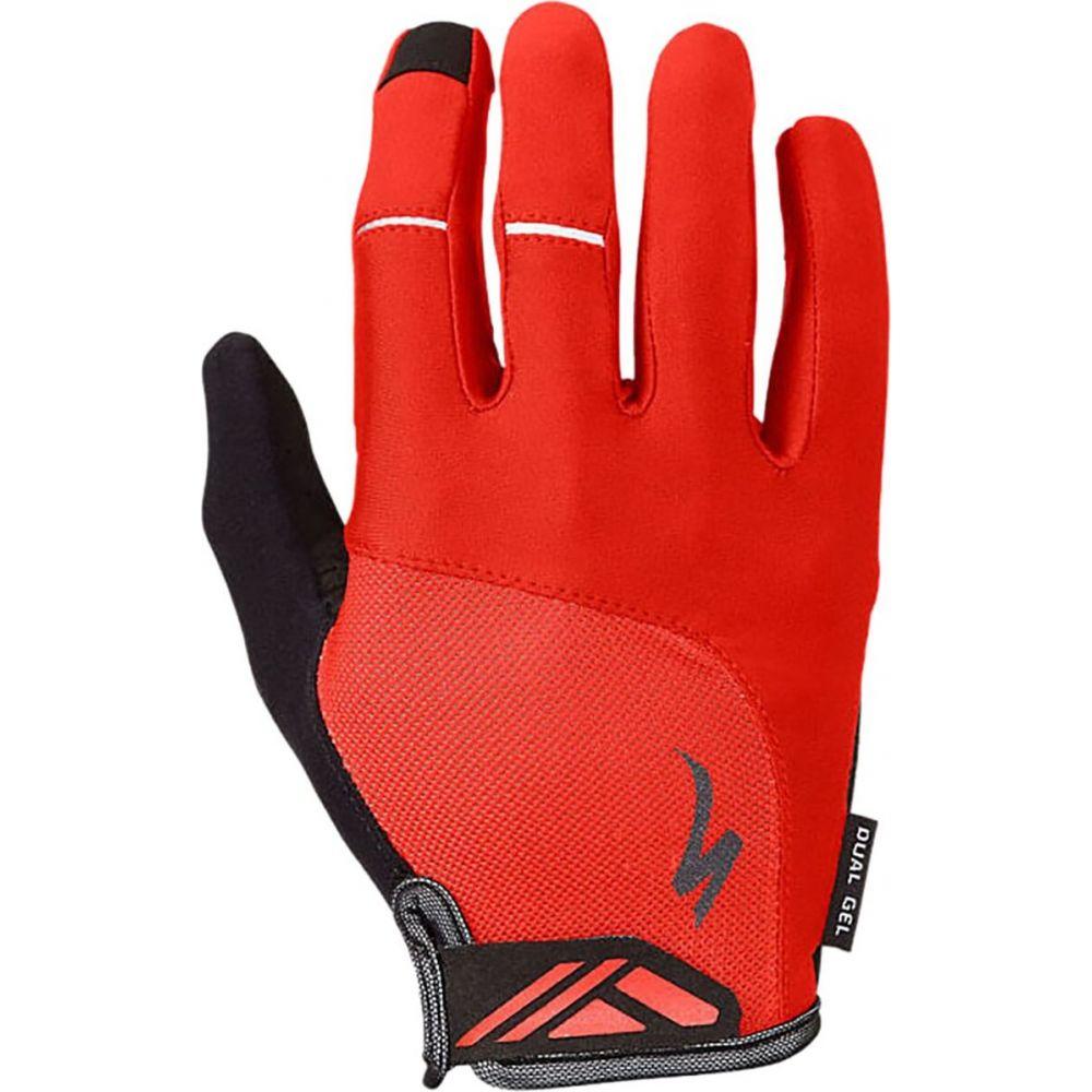 スペシャライズド レディース 舗 自転車 グローブ Red サイズ交換無料 Specialized Body Geometry - Long 送料無料新品 Glove Dual Gel Finger