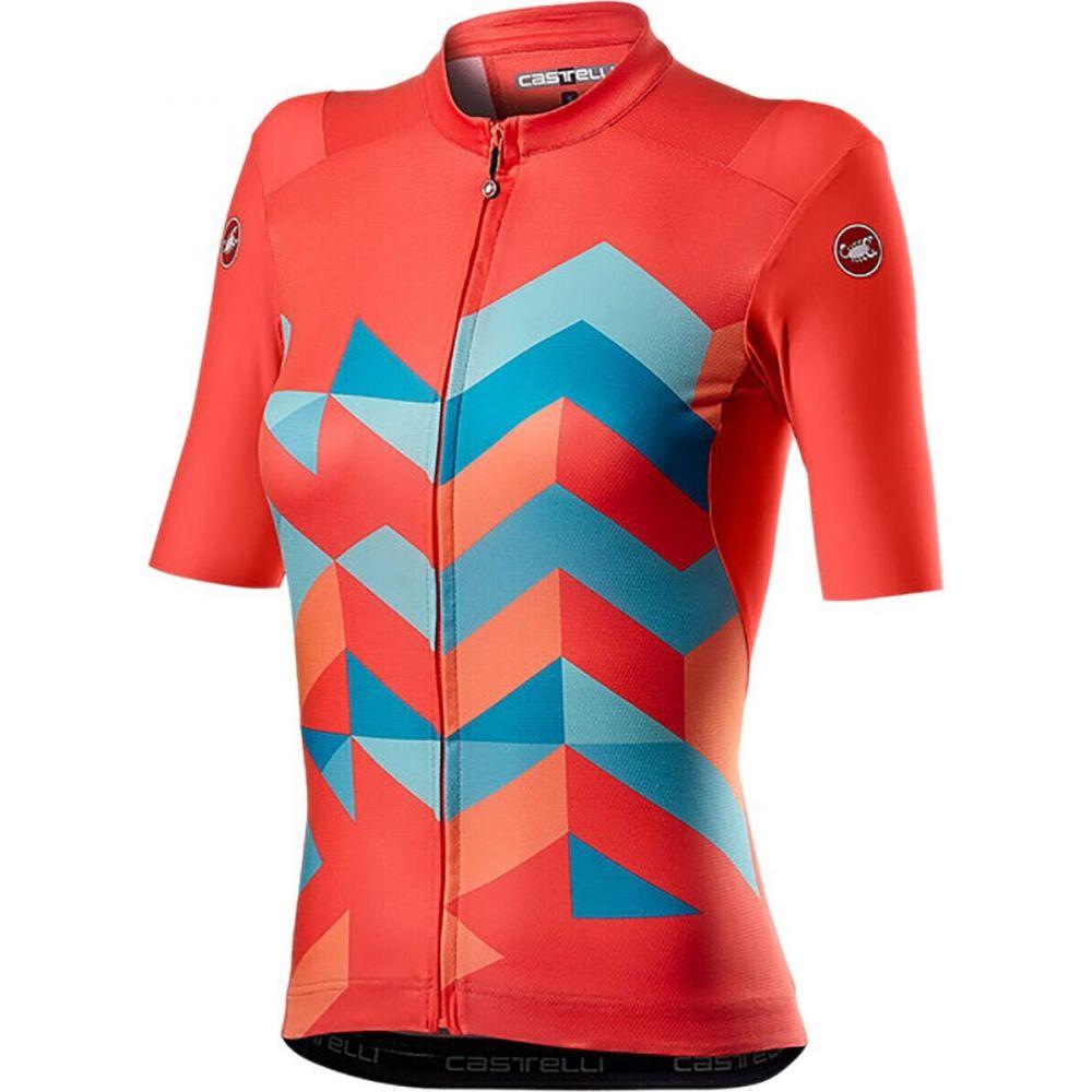 カステリ レディース 自転車 トップス Brillant Pink Unlimited サイズ交換無料 Castelli お洒落 Jersey 倉