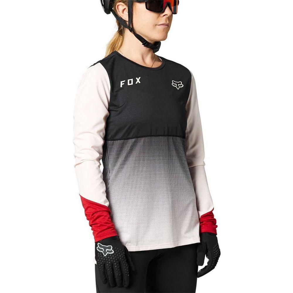 フォックス レーシング レディース 自転車 トップス Black Pink サイズ交換無料 Long - Sleeve Fox Racing Jersey クリアランスsale 期間限定 Flexair ランキング総合1位