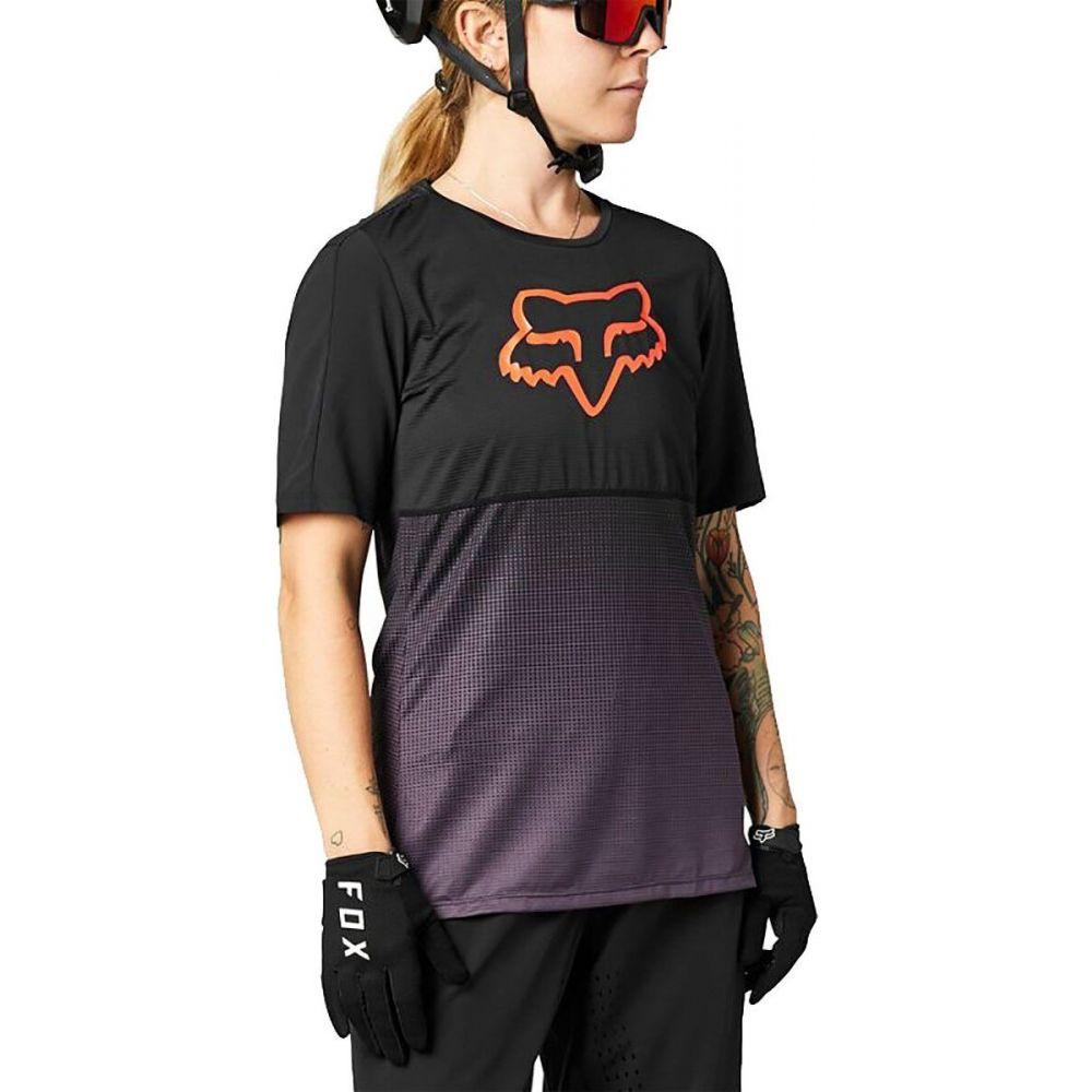 フォックス レーシング レディース 自転車 再販ご予約限定送料無料 トップス Black Purple サイズ交換無料 Sleeve Flexair Racing Short Jersey 着後レビューで 送料無料 - Fox