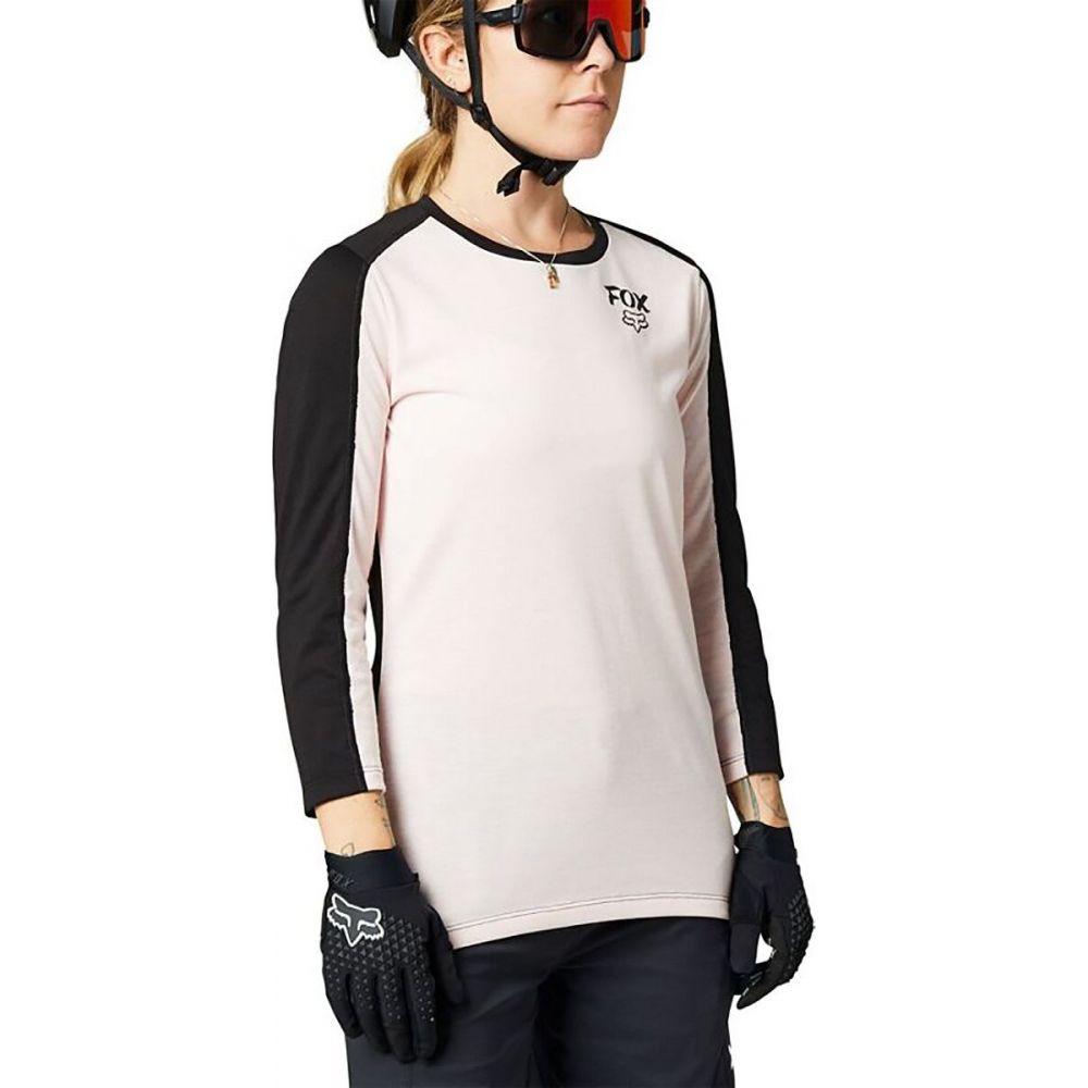 フォックス レーシング レディース 自転車 トップス Pale 直送商品 Pink サイズ交換無料 Fox Dr 3 4 Ranger Jersey Sleeve ご注文で当日配送 - Racing
