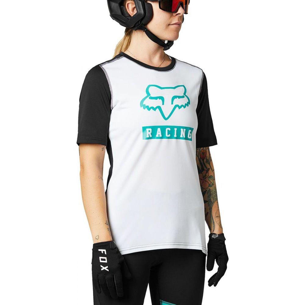フォックス レーシング 爆売りセール開催中 レディース 自転車 トップス White Black サイズ交換無料 Ranger Short Racing Fox Sleeve 人気の製品 Jersey -