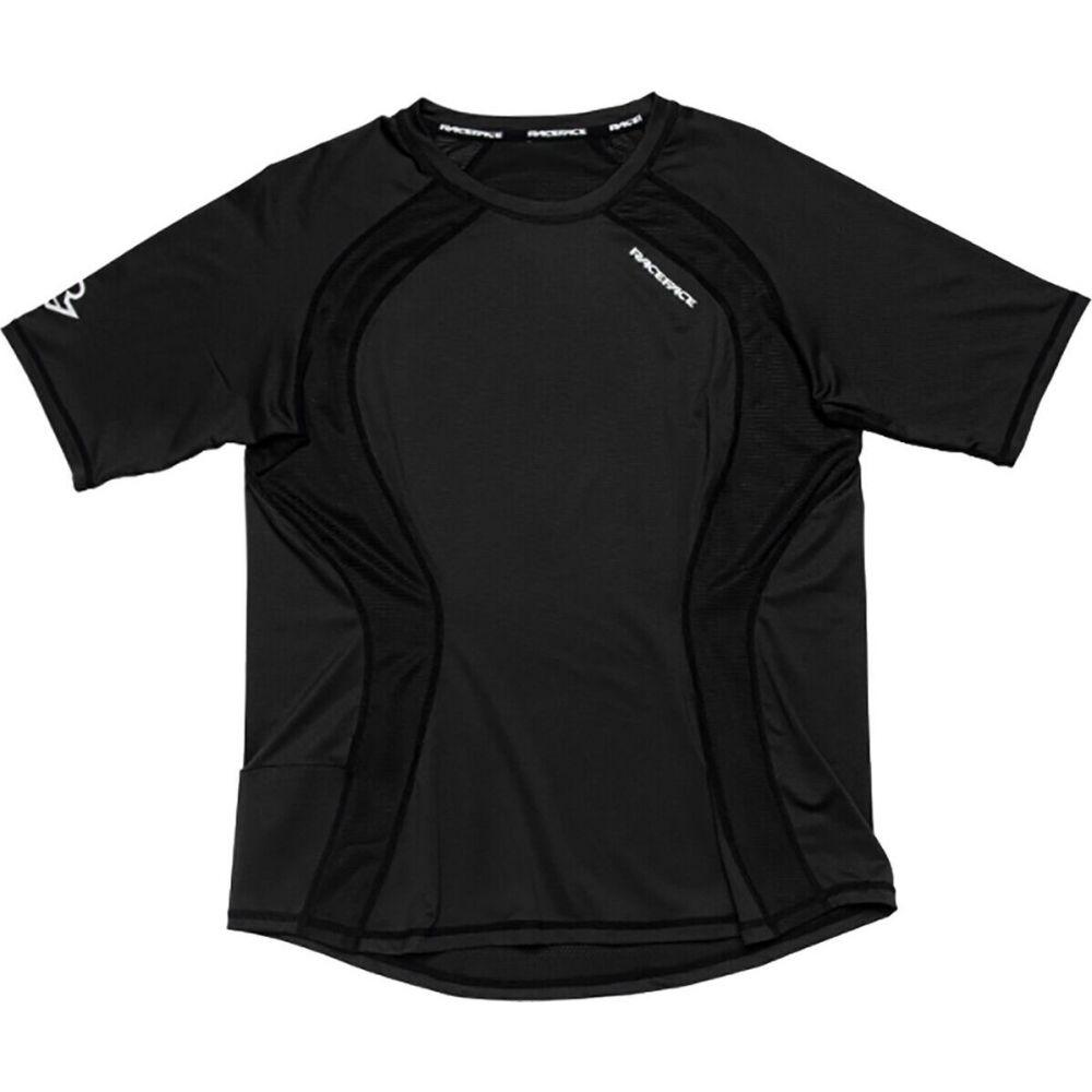 注目ブランド レイスフェイス レディース 自転車 トップス Black サイズ交換無料 Race Face - Traverse Jersey Short 安い Sleeve