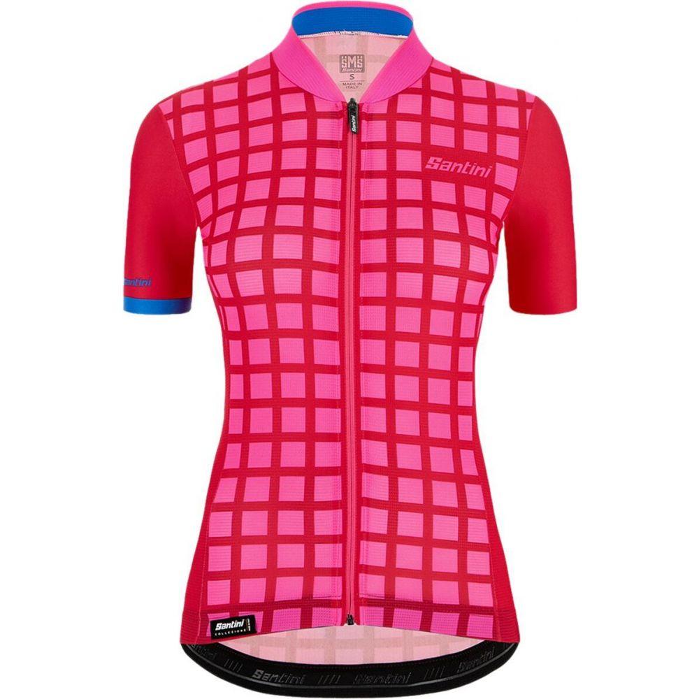 サンティーニ レディース 自転車 トップス Pink 売買 Santini Jersey Grido Sleek ※ラッピング ※ サイズ交換無料