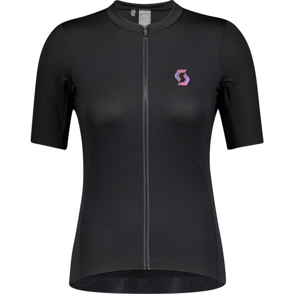 スコット レディース 自転車 トップス Black Nitro Purple 市販 サイズ交換無料 - 新作送料無料 Sleeve Scott Contessa Shirt RC Short Sign.