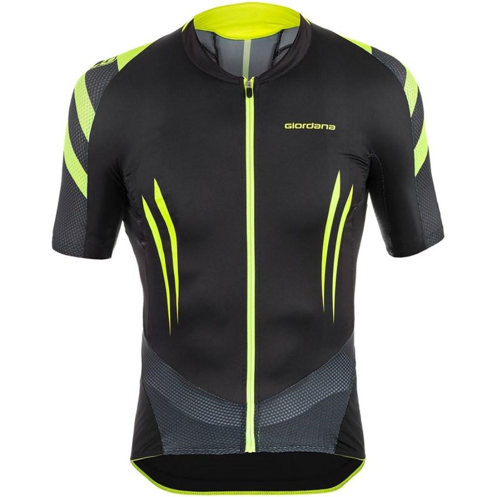 ジョルダーノ Giordana メンズ サイクリング ウェア【EXO System Jersey】Black/Yellow Fluo