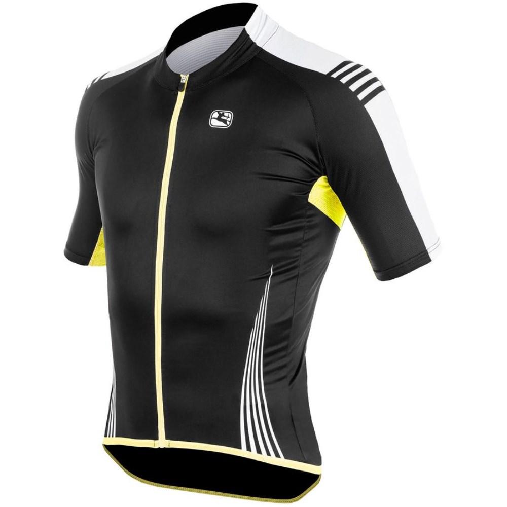 ジョルダーノ Giordana メンズ サイクリング ウェア【Sahara Jersey】Black/White/Yellow Fluo