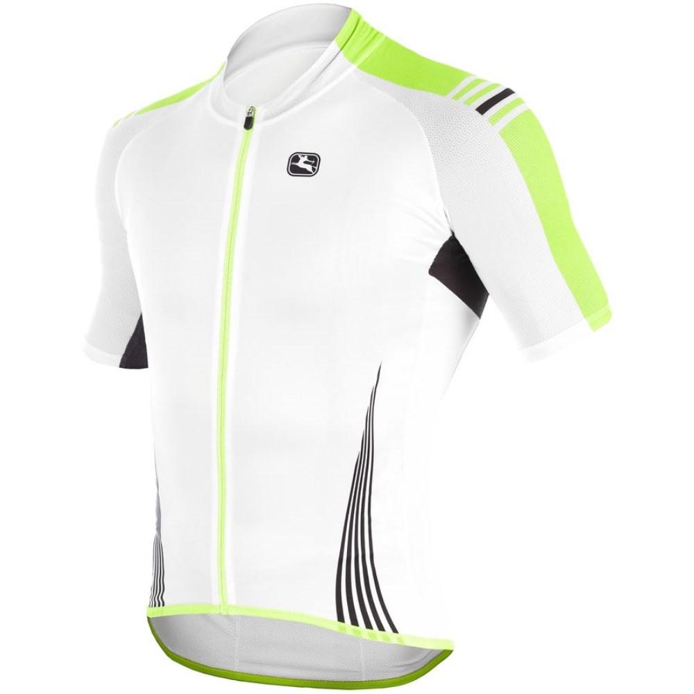 ジョルダーノ Giordana メンズ サイクリング ウェア【Sahara Jersey】White/Green Fluo/Black