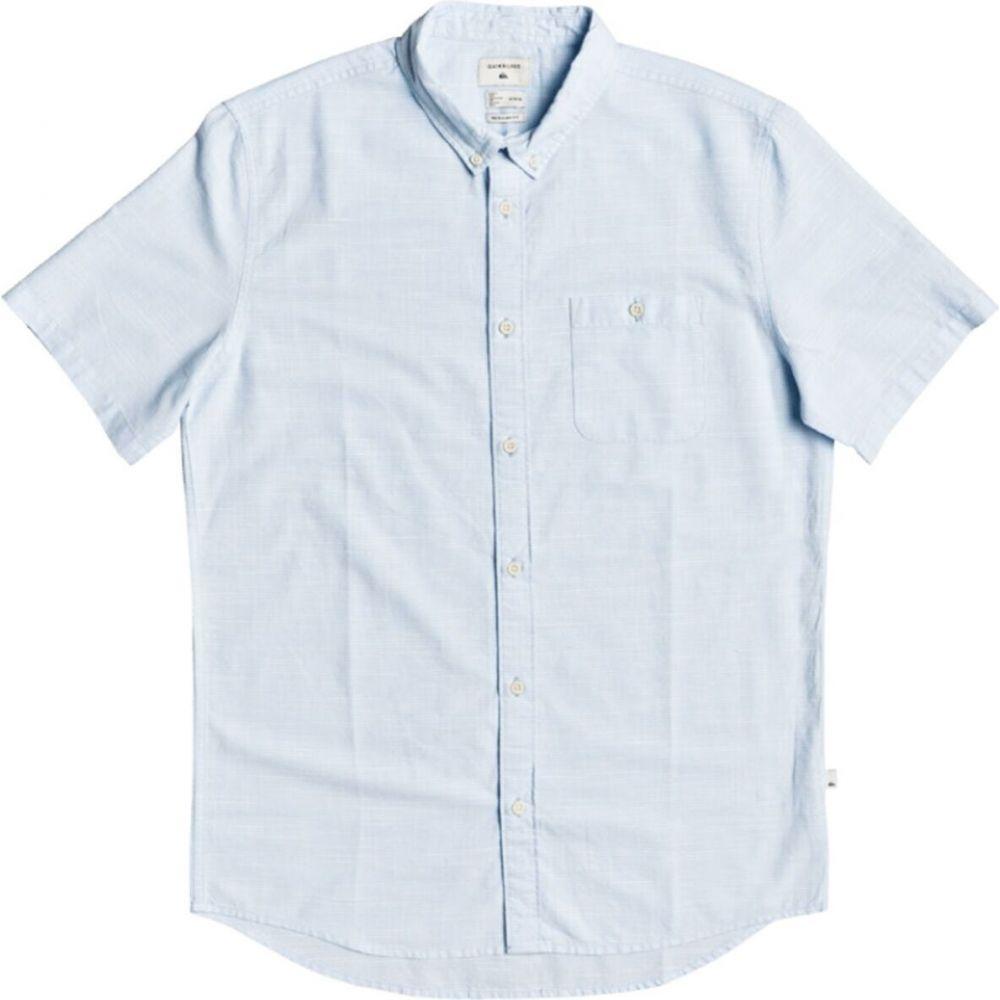 クイックシルバー メンズ トップス 半袖シャツ Airy Blue Shirt Short-Sleeve Quiksilver 期間限定 サイズ交換無料 Firefall 日本最大級の品揃え