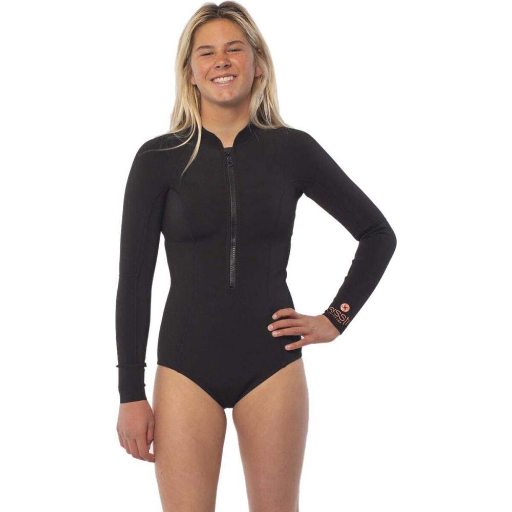 ヴィスラ レディース 水着 ビーチウェア 店舗 日本メーカー新品 ウェットスーツ Solid Black サイズ交換無料 Wetsuit Summer Cheeky Revolution Seas Long Sleeve Sisstr