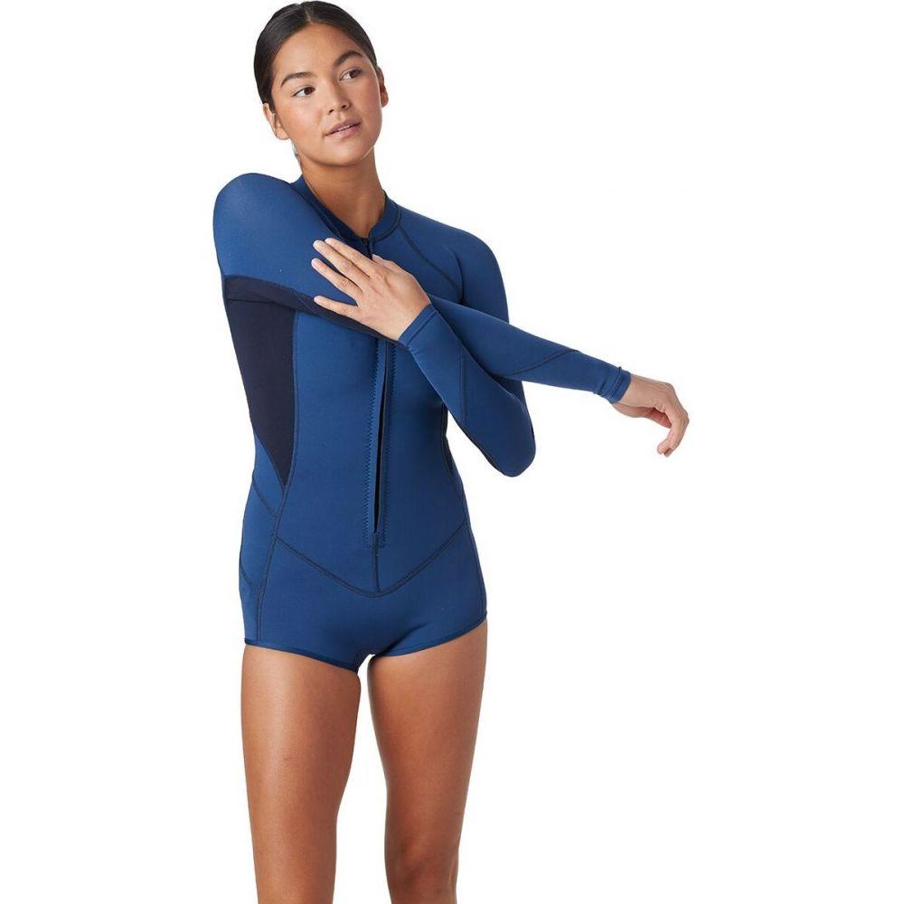 特別セール品 オニール レディース サーフィン トップス French Navy Abyss サイズ交換無料 Long-Sleeve Front-Zip 期間限定特別価格 Bahia O'Neill 2 Surf Suit 1