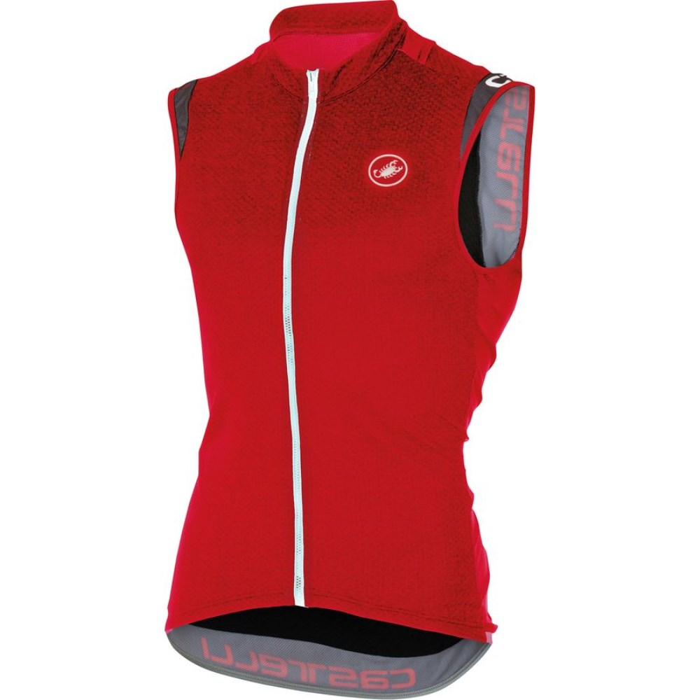 カステリ Castelli メンズ サイクリング ウェア【Entrata 2 Full-Zip Jersey】Red
