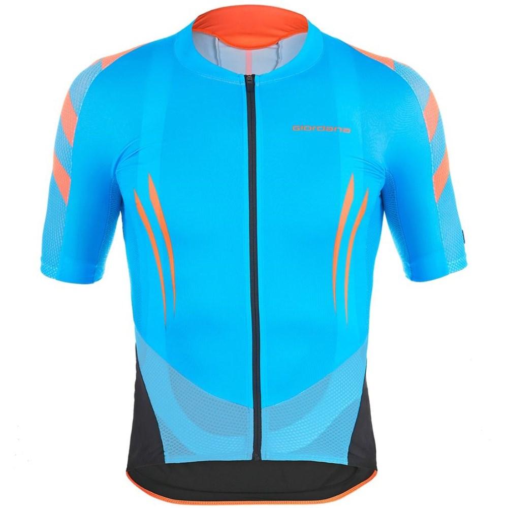 ジョルダーノ Giordana メンズ サイクリング ウェア【EXO System Jersey】Cyan/Orange Fluo